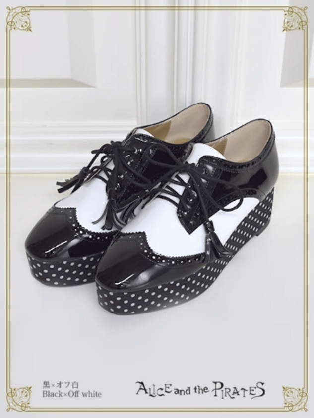 Alice and the Pirates Alvin Dot Shoes Black x Offwhite