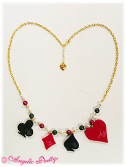 Angelic Pretty Queen Trump Neckalce Red x Black