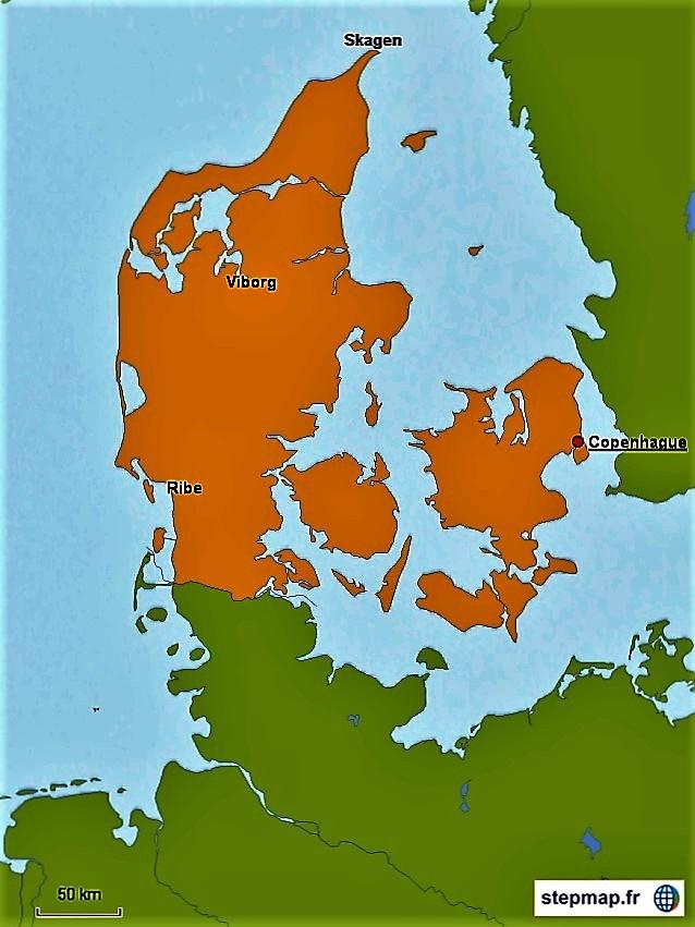 5 Carte Danemark