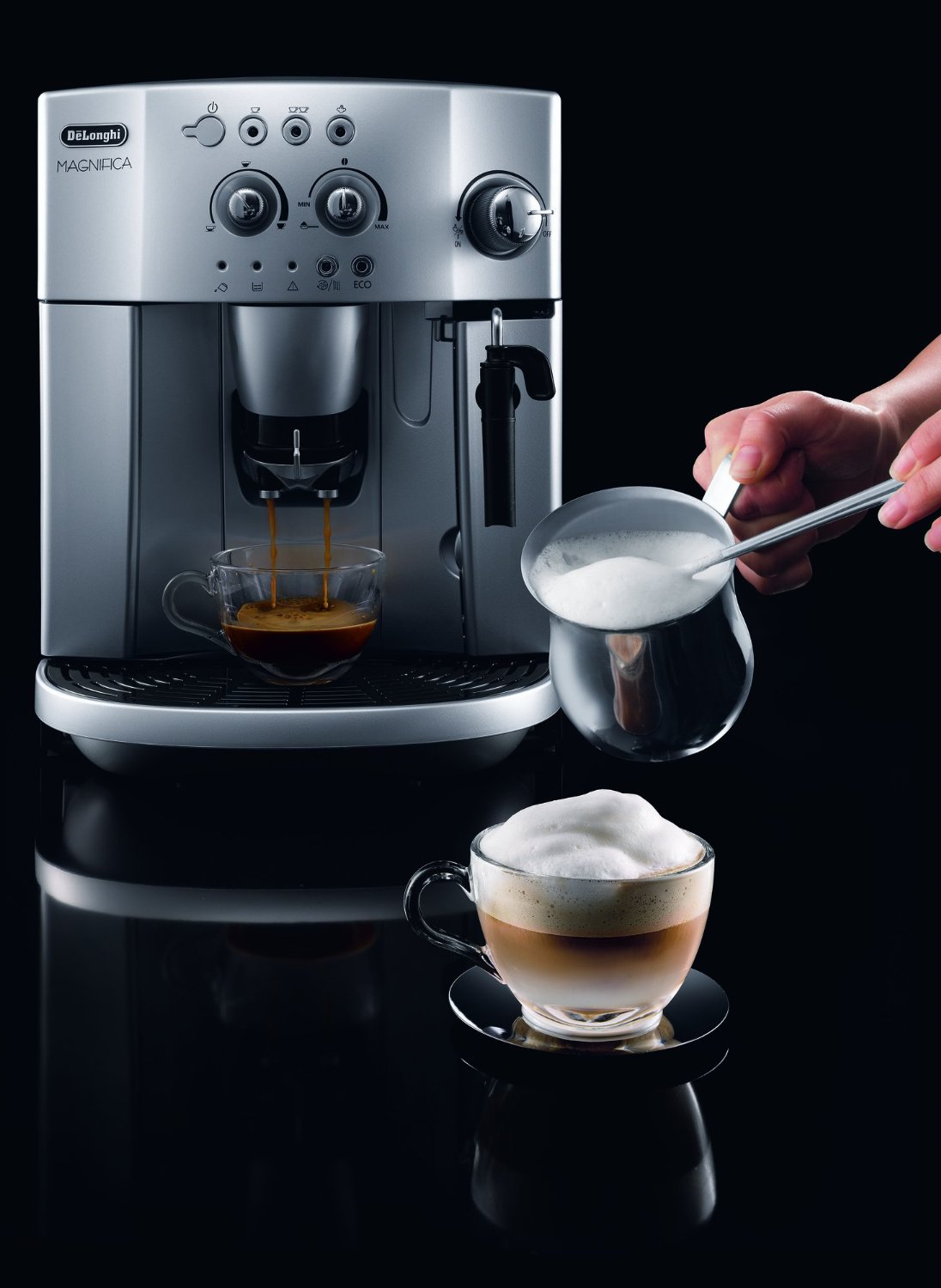 Image Result For Delonghi Magnifica Esam Bean To Cup Espresso Cappuccino Coffee Machine