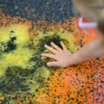 Colro changing liquid chalk is a perfect summer science learning activity