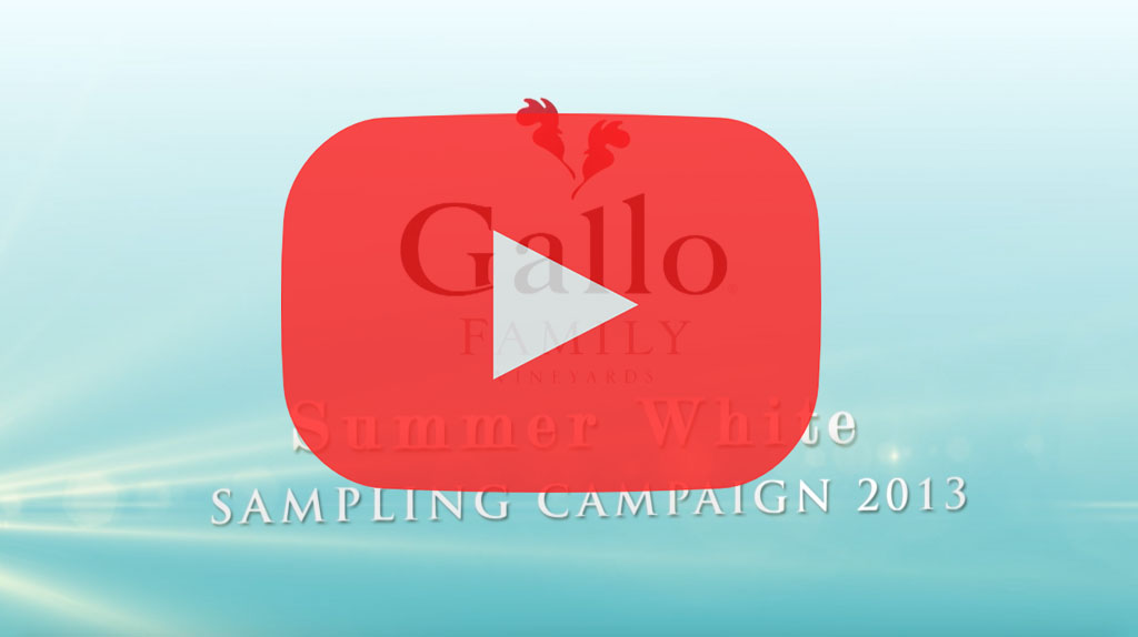 Gallo Summer White Video Title Card - MGB video production services