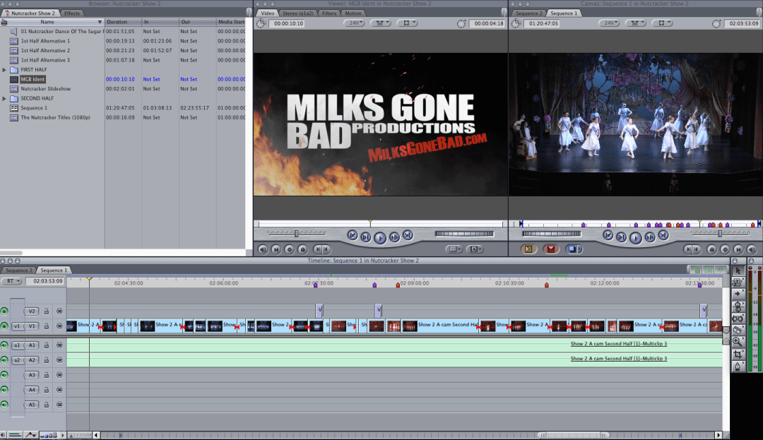 A photo of a video production services editing session by MGB Productions