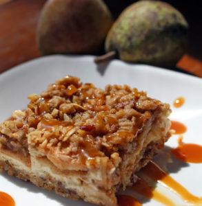 Pear Cobbler Cheesecake Bars