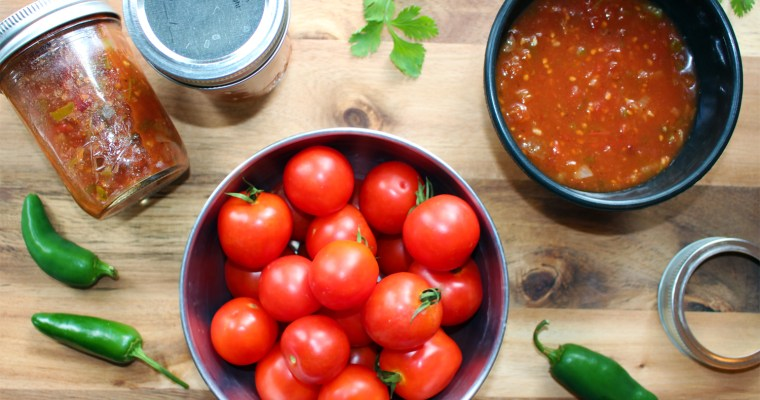 Smoky Chipotle Salsa for Canning