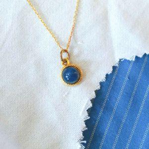 Blue Keepsake Pendant - Milk Vine Jewelry