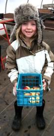 Maeve ready for farm chores