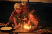 kiddos and birthday candles