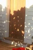 wood pile shadow