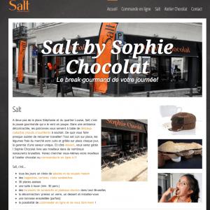 Création site web Sophie chocolat