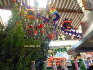 guacamole e fiori gentili a Coyacán