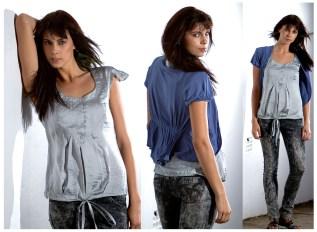 Blue Cardi & Smoke 'silk' shirt