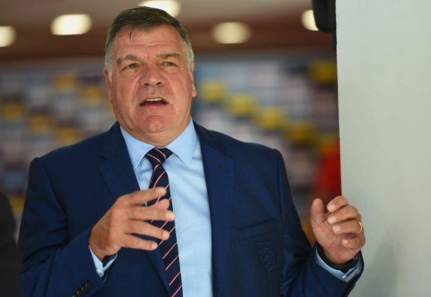 TRNAVA, SLOVAKIA - SEPTEMBER 04: Sam Allardyce manager of England speaks prior to the 2018 FIFA World Cup Group F qualifying match between Slovakia and England at City Arena on September 4, 2016 in Trnava, Slovakia. (Photo by Michael Regan - The FA/The FA via Getty Images)