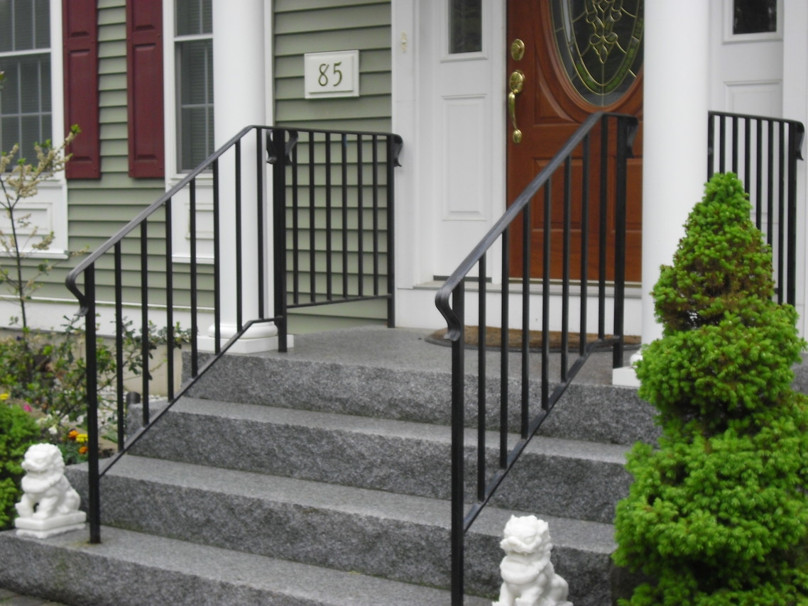 Custom Iron Railings Wrought Iron Railings Mill City Iron   Safety Rails For Steps   Step Handrail   Steel Stair   Exterior Handrail   Wall Mounted   Wrought Iron