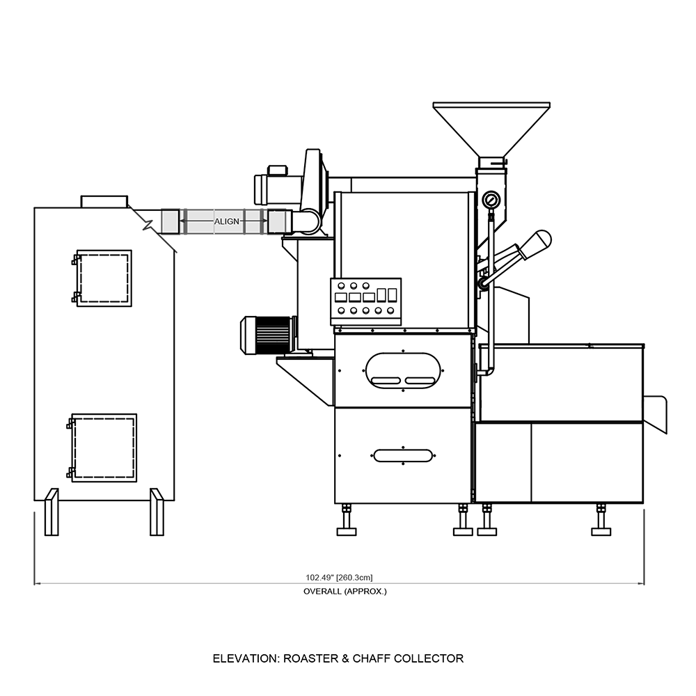 10kg MCR Coffee Roaster Venting Kit