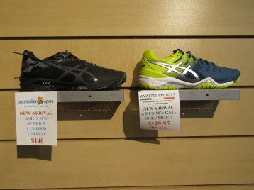 New Asics Speed 3 LE ($140) & Gel Solution 7 ($129.95)
