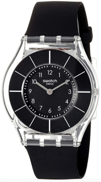Reloj Swatch para mujer 'Classiness' de plástico y silicona de cuarzo, color: negro (modelo: SFK361)