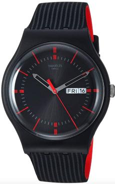Swatch High-Lands Mix Quartz Silicone Strap, negro, 20 reloj casual (modelo: SUOB714)