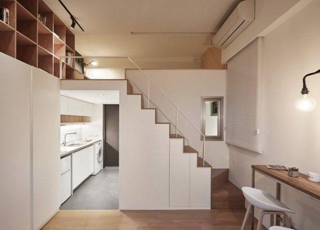 Desain Apartemen Mungil Taipei