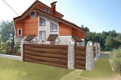 Проект загородного дома. Эскиз ворот