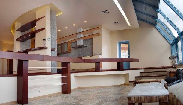 Дизайн интерьера квартиры в пентхаусе