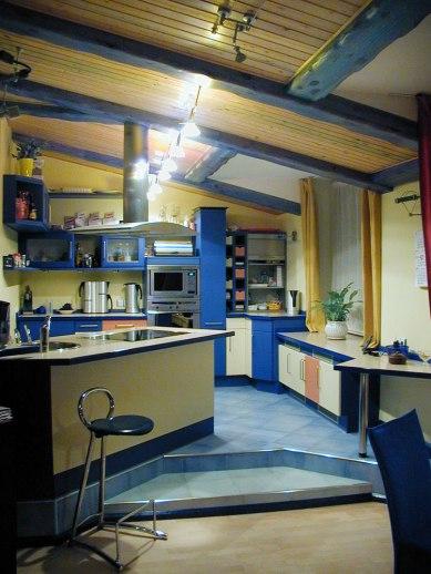 Дизайн квартиры в мансарде. Кухня