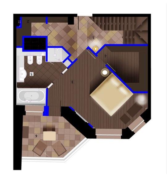 Дизайн интерьера пентхауса. План