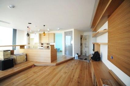 Дизайн интерьера квартиры в стиле контемпорари. Кухня-столовая