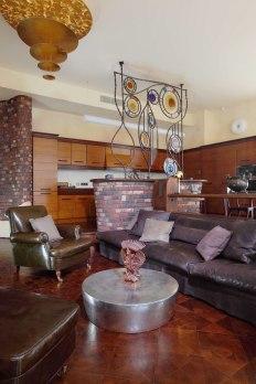 Дизайн интерьера квартиры в стиле Гауди. Гостиная