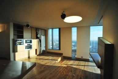 Дизайн интерьера квартиры в стиле контемпорари. Кухня