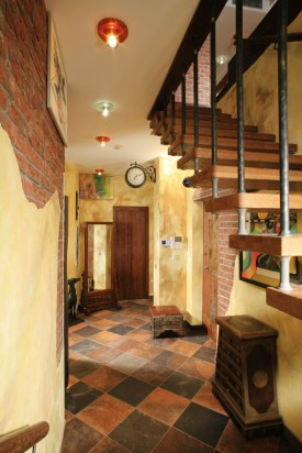 Дизайн интерьера пентхауса. Лестница