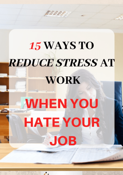 15 ways to reduce stress at work