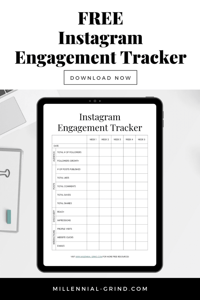 The Millennial Grind Instagram Engagement Tracker