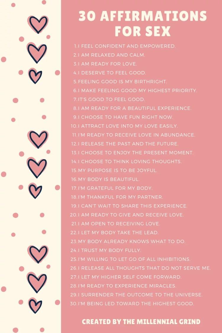 30 Best Affirmations For Sex
