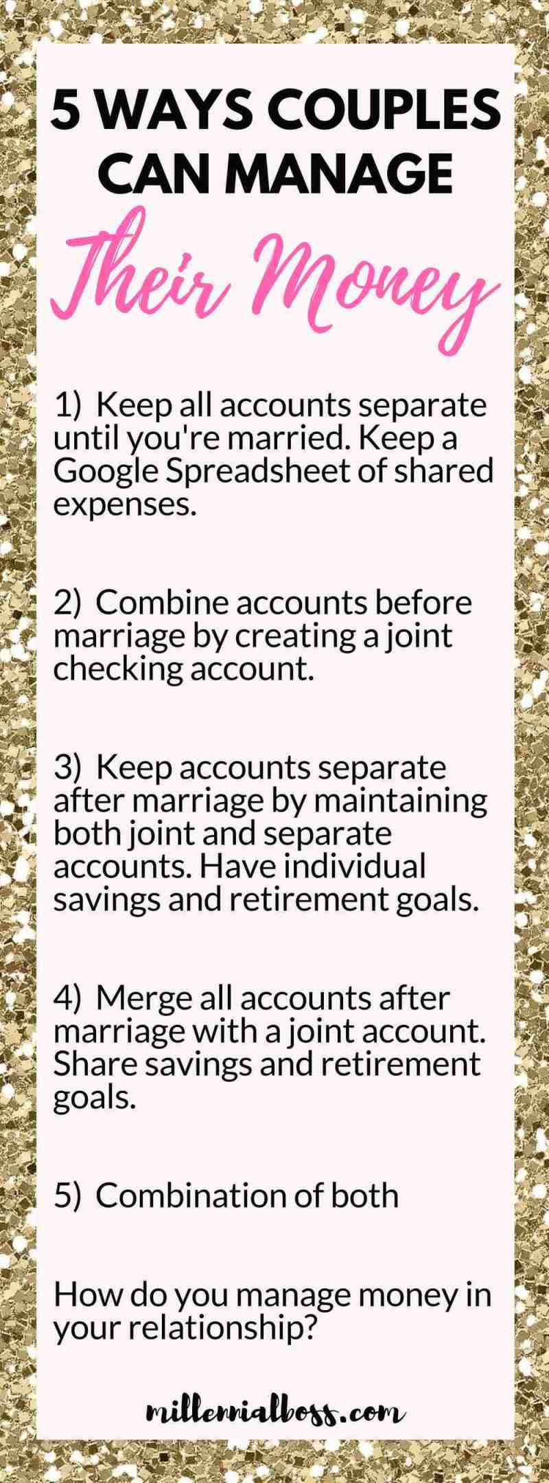 How Couples Can Manage Their Money During Dating And Marriage