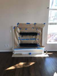 Spray Paint Brass Fireplace Makeover Plus a Floating ...