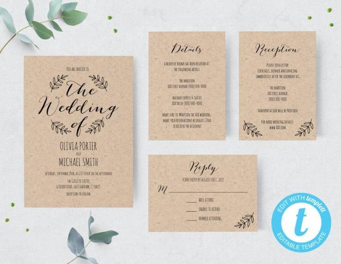 16 Diy Wedding Invitations For A