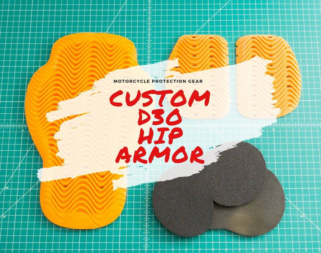 Custom Motorcycle Hip Armor from D3O