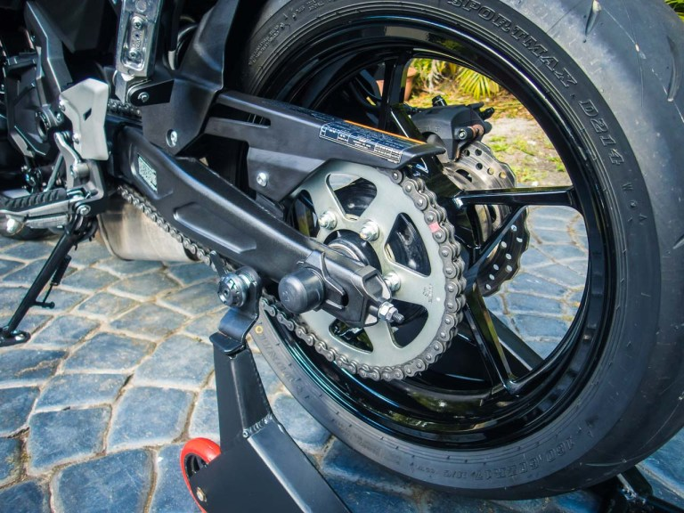 To avoid issues on the 2017+ Kawasaki Ninja 650, at most you should probably limit sprocket changes to one or two teeth at the rear.