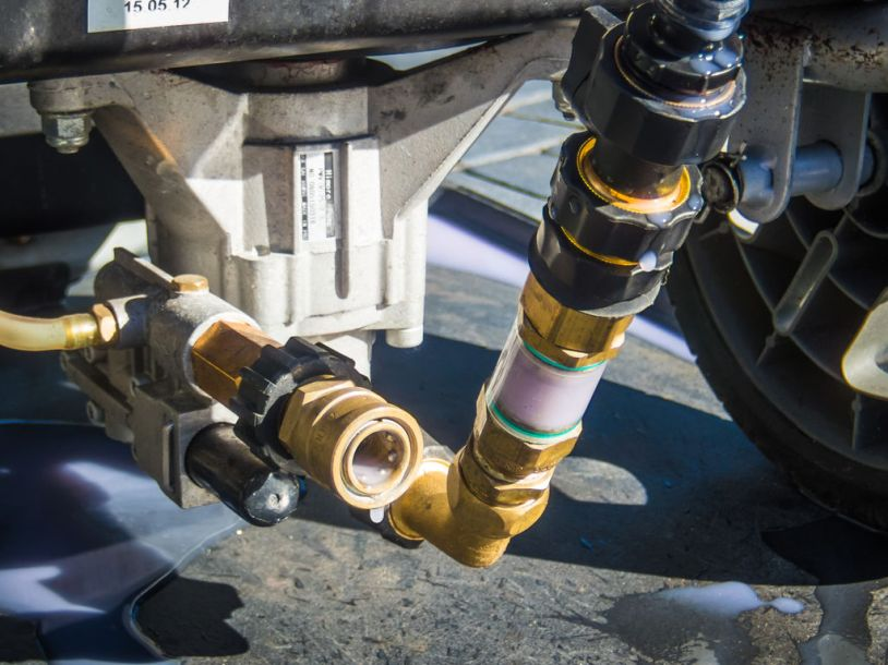 For the best corrosion protection, leave the solution inside the pump. If freeze damage is your largest concern, and temperatures below -50F are expected, then you might want to run the pump empty before storage.