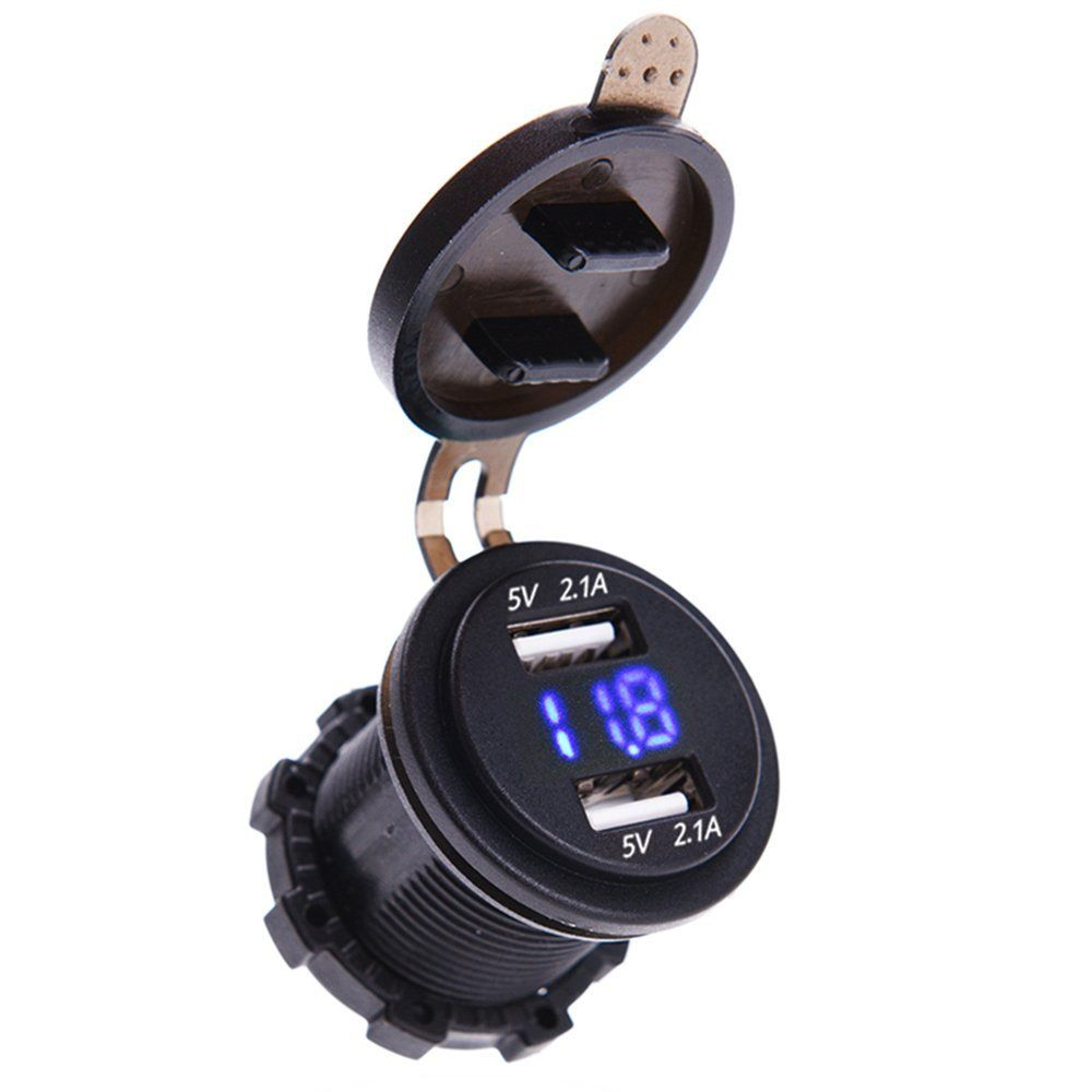 Kawasaki Motorcycle Usb Charger For Phones Gps Millennial Diyer Voltmeter Motor Extra Points If It Includes An Uber Useful Like This Mictuning 42a 12v