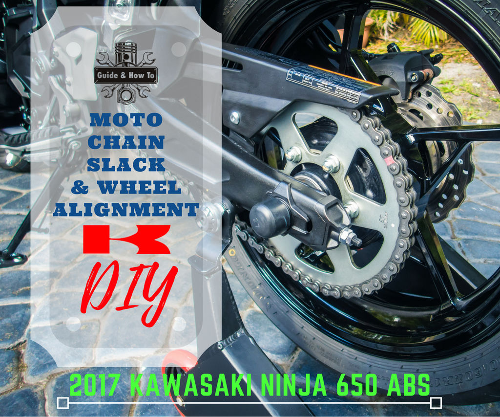 Motorcycle Chain Adjustment - Chain Tension & Rear Wheel Alignment