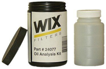 You simply drain the used motor oil into this little bottle, slap a shipping label on it, and get the oil analysis results by email a few weeks later.