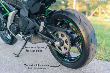 Prospective buyers aren't going to read your listing unless they like the images first. One easy way to justify your bike's higher-than-average price is pointing out the upgrades in the images.