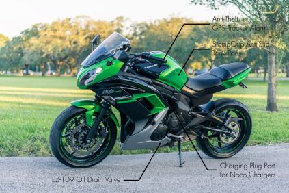 To sell my motorcycle quicker, I added as many call-outs as I could think of. Anything the bike had that a buyer could consider an upgrade. It only took a few minutes in Paint.