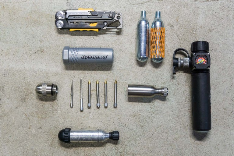 Depending on your motorcycle, storage space, previous experiences and preferences, there are plenty of different ways to put together a repair kit for tubeless tires.