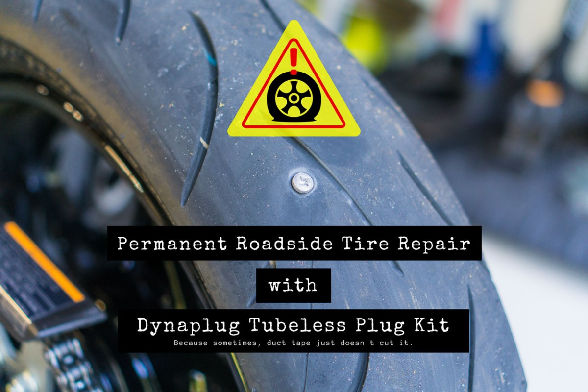 Permanent Roadside Motorcycle Tire Repair Kit with Dynaplug