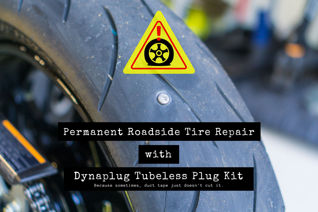 Permanent Roadside Motorcycle Tire Repair with Dynaplug Kit