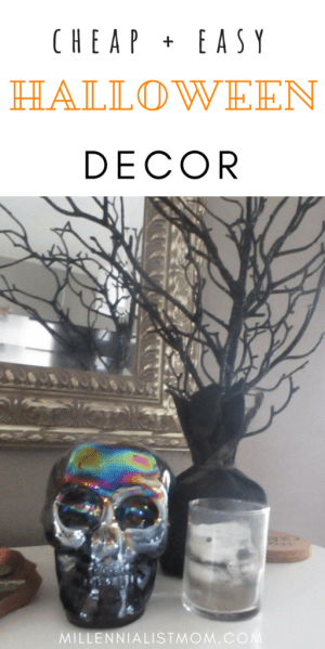 minimal halloween decor for cheap. DIY cute halloween ideas for entryway, living room, bedroom, walls