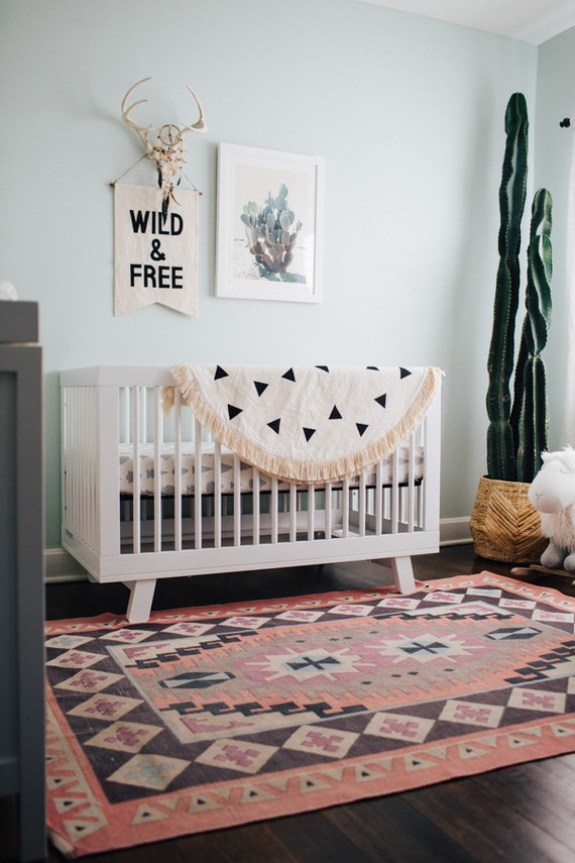 Last but not least, my favorite from 100LayerCakelet. This southwestern nursery nails everything, even without an Ikea Sniglar Crib.